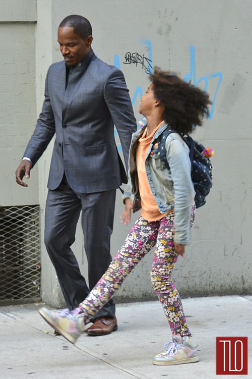 Jamie+Foxx+Quvenzhane+Wallis+On+ Set+Annie+3